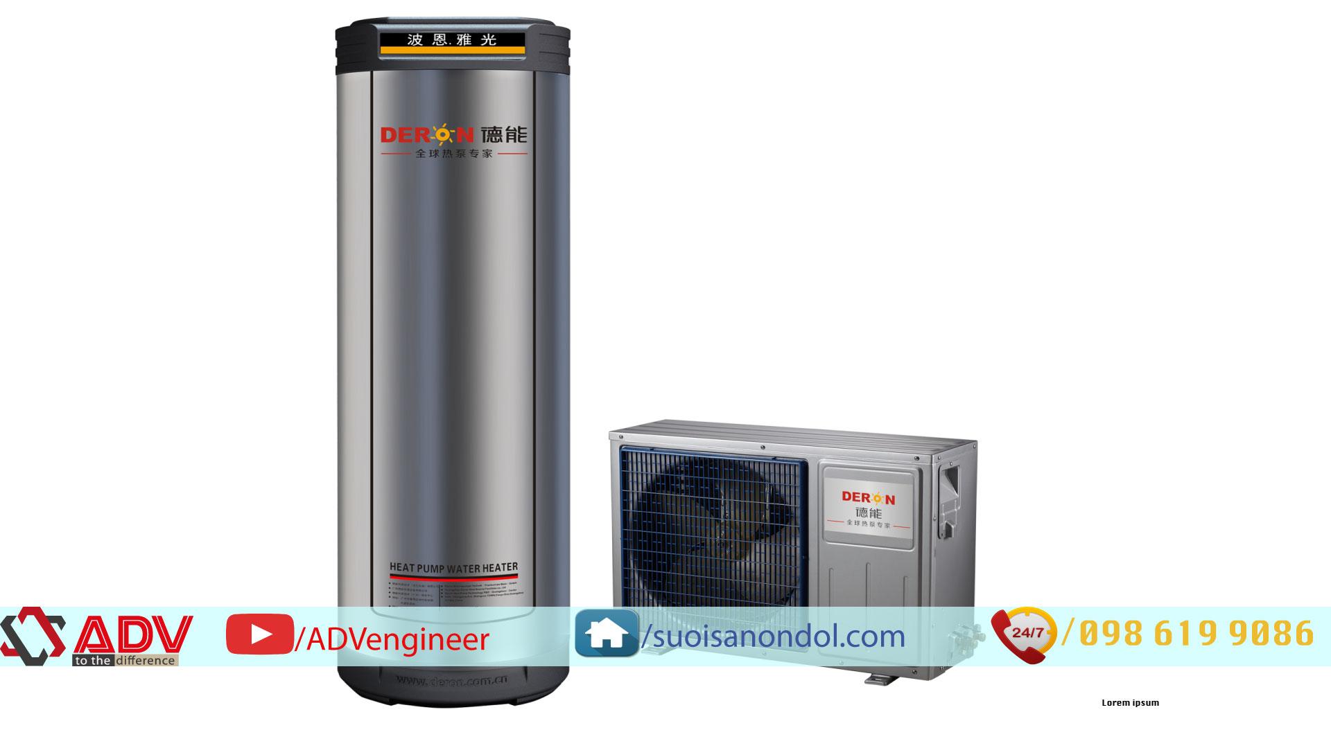 Máy bơm nhiệt gia đình Deron Model DE-100LW/AP
